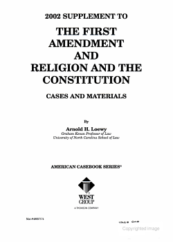 The First Amendment and Religion and the Constitution Cases and Materials PDF