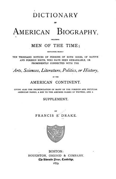 Download Dictionary of American Biography Including Men of the Time Book