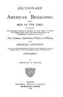 Dictionary of American Biography Including Men of the Time PDF