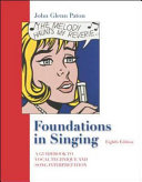 Foundations In Singing Book PDF