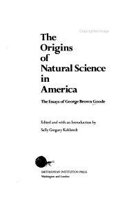 The origins of natural science in America PDF