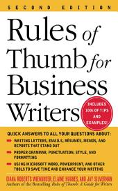 Rules of Thumb for Business Writers: Edition 2