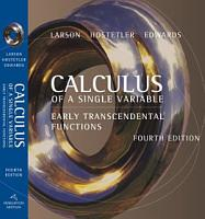 Calculus of a Single Variable  Early Transcendental Functions PDF