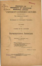 Syllabus of a Course of Six Lectures on Representative Americans ...