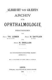 Archiv für klinische und experimentelle Ophthalmologie: Band 36,Ausgabe 1