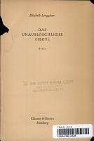 Das Unausloschliche Siegel PDF