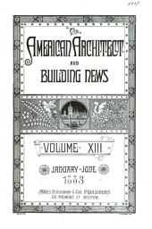 American Architect and Architecture: Volume 13