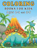 Dinosaur Coloring Books for Kids Ages 2-4 and 4-8