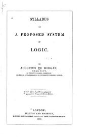 Syllabus of a Proposed System of Logic