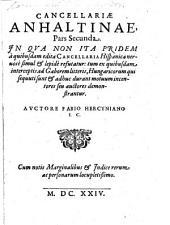 Cancellaria Anhaltina