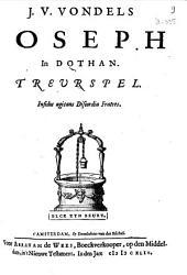 J. v. Vondels Joseph in Dothan: Treurspel