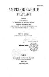 Ampélographie française: description des... cépages... par région
