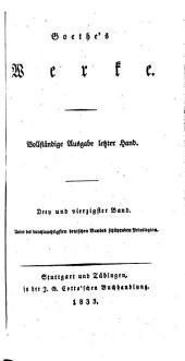 Goethe's Werke: Bände 43-44