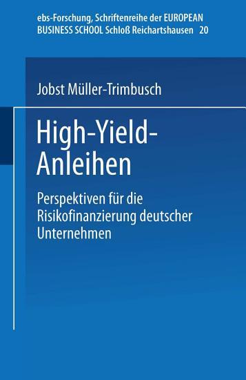 High Yield Anleihen PDF
