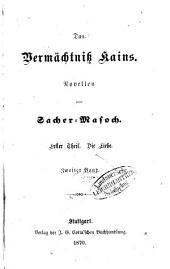 Das Vermächtniß Kains: Novellen. I,2
