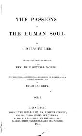 The Passions of the Human Soul: Volume 1