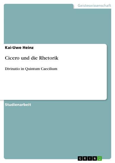 Cicero und die Rhetorik PDF