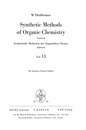 Synthetic Methods of Organic Chemistry PDF