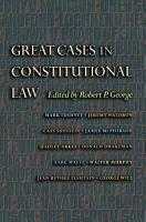 Great Cases in Constitutional Law PDF