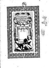 Academia tenuta da Fantastici a' 12 di maggio 1655. In applauso della S.ta di N.S. Alesandro 7