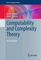 Computability and Complexity Theory PDF