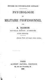 Psychologie du militaire professionnel