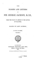 The Diaries and Letters of Sir George Jackson K  C  H  PDF