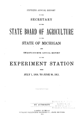 Annual Report of the Agricultural Experiment Station, Michigan State University: Volume 24