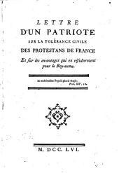 Mémoire théologique et politique au sujet des mariages clandestins des protestants de France