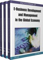 Encyclopedia of E Business Development and Management in the Global Economy PDF