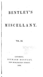 Bentley's Miscellany: Volume 3