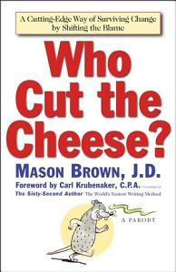 Who Cut The Cheese  Book