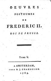 Oeuvres posthumes de Frederic II, Roi de Prusse: Volume3
