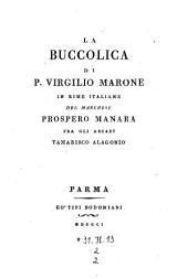 La Buccolica In Rime Italiane Del Marchese Prospero Manara: 2,2