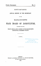 Annual Report of the Secretary of the Board of Agriculture: Volume 57, Part 1909
