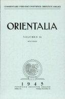 rientalia  Vol 14  Vol