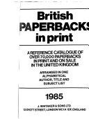 British Paperbacks in Print PDF