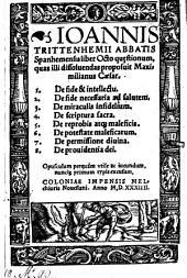 Liber octo quaestionum quas illi dissolvendas proposuit Maximilianus Caesar