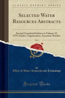 Selected Water Resources Abstracts, Vol. 1