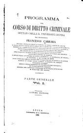Programma del corso di diritto criminale