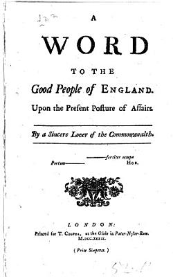 A Word to the Good People of England PDF