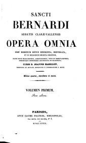 Opera omnia: Volume 1, Part 1