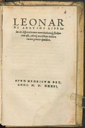 Libellus de disputationum ... usu