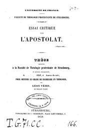 Essai critique sur l'apostolat