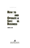 How to Start and Operate a Successful Business PDF