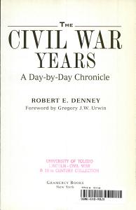 The Civil War Years PDF