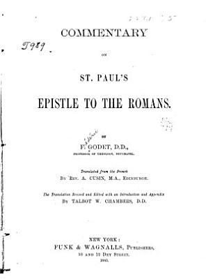 Commentary on St  Paul s Epistle to the Romans PDF