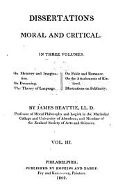 The Works of James Beattie: Dissertations, moral and critical