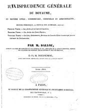 Jurisprudence générale du Royaume en matière civile, commerciale, criminelle et administrative ...
