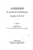 Anzeiger der germanischen Nationalmuseums PDF
